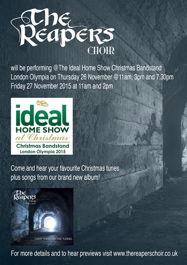 the ideal home show christmas bandstand london olympia the reapers